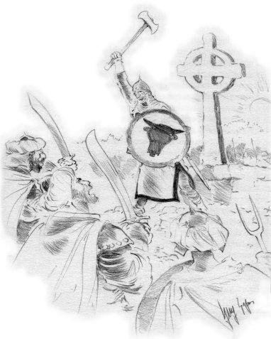 bataille de Toulouse et de Poitiers, dessin de Guy Sajer - Cliquer pour AGRANDIR